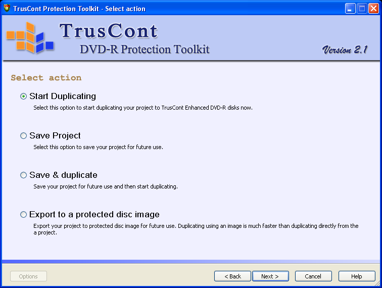 TrusCont Software screen shot